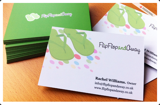 Flip Flop and Away Business cards